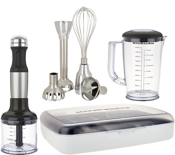 KitchenAid 5 Speed Immersion Blender w/ Case And Attachments — QVC.com