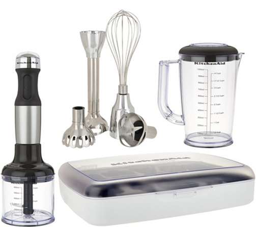 Kitchenaid 5 Sd Immersion Blender W Case And Attachments Page 1 Qvc