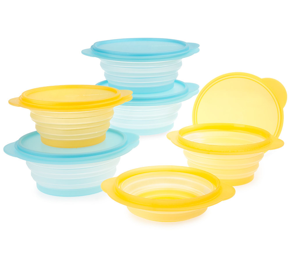 Tupperware FlatOut Set of 6 Food Storage Containers Page 1 QVCcom