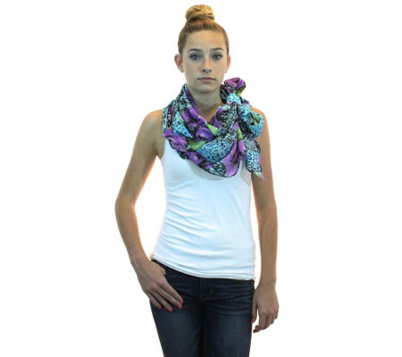 ZenSity Lotus Loop Easy-Style Chiffon Scarf
