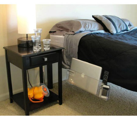 Bed Butler Bedside Storage Holds Papers, Folders, Laptop And More