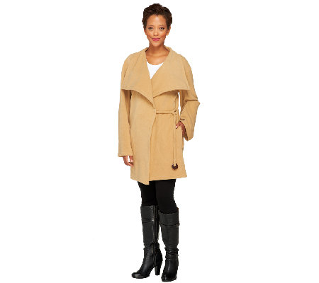 Koezy Four Seasons Microfleece Fashionable Rope Coat
