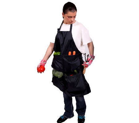 Pick Pocket Garden Apron with Large Pockets