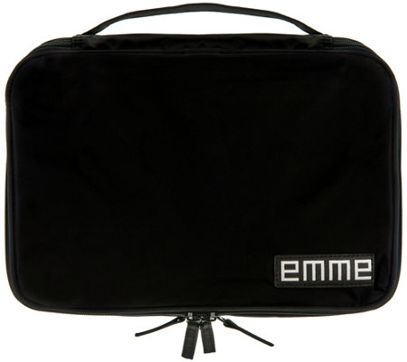 EMME Original Toiletry Cosmetic Bag w/ 7 Pockets & 12 Bottles