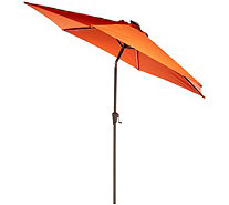 ATLeisure 9u0027 Solar Patio Umbrella With Firefly LED Lights   M55500