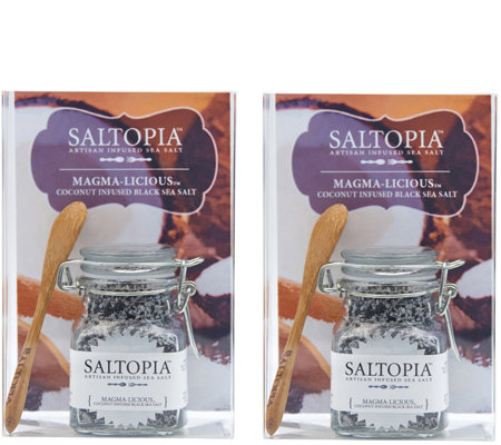 Saltopia Set of 2 Magma-Licious Coconut-Infused Sea Salts
