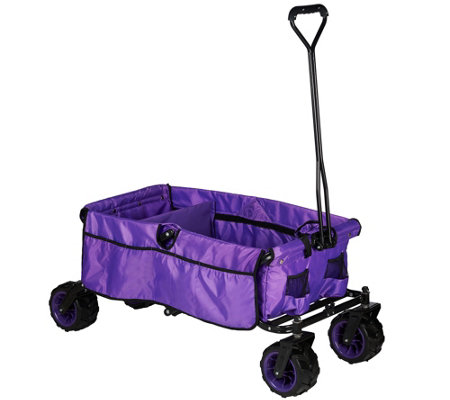 Creative Outdoor All-Terrain Folding Wagon with Divider