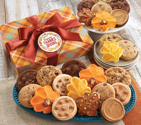 SH 11/5 Cheryl's Thanksgiving 24-Piece Cookie Gift Box