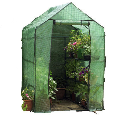 Gardman Walk-in Greenhouse with Shelves