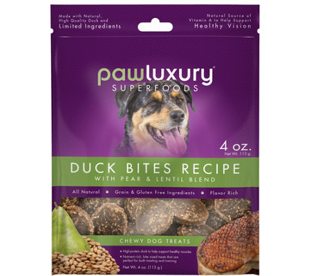 Pawluxury 4-oz Duck Bites Recipe with Pear & Lentil Blend