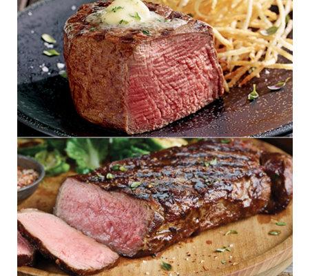 Kansas City Steak Co 2 6 Oz Filets 2 10 Oz Strip Steaks