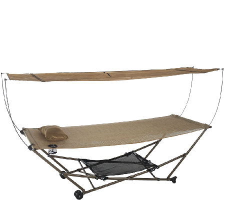 Finest Bliss Hammocks Stow EZ Hammock with Canopy - Page 1 — QVC.com VY52