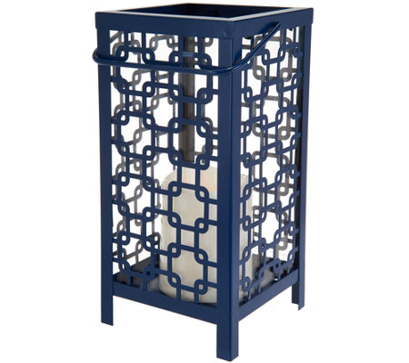 Scott Living Indoor/Outdoor Diamond Trellis Lantern