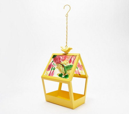 Geometric Glass Panel Birdfeeder by Evergreen