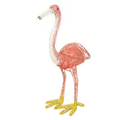 Flamingo Animated Lighted Garden Sculpture