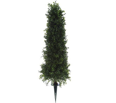 """As Is"" English Garden 30"" Boxwood Cone Topiary with 6"" Stake"