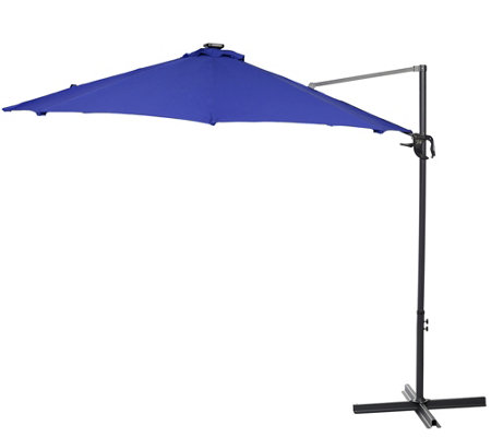 ATLeisure 10' Starlight Solar Offset Umbrella w/ Remote