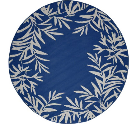 "Tommy Bahama 94"" Round Fern Rug Indoor/Outdoor Fern Rug"