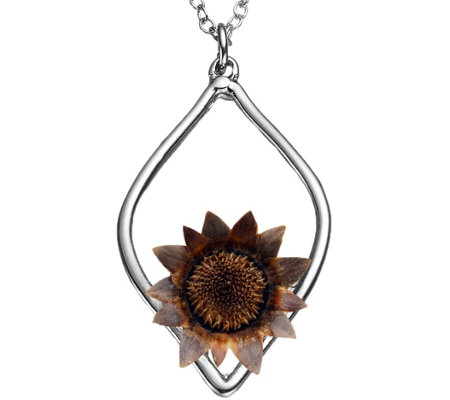"The Blessing Flower Balanced Sterling Silver 17"" Necklace"
