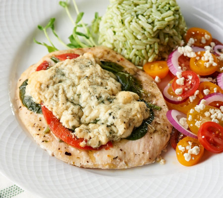 The Perfect Gourmet (8) 6-oz Spinach Gorgonzola Chicken