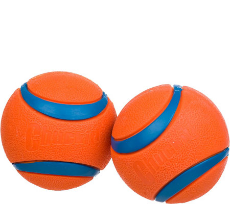 "Chuckit! Ultra Ball Dog Toy Orange 2.5"" - 2-Pack"