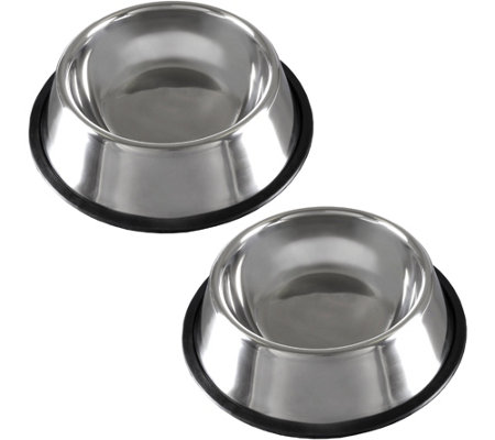 PETMAKER Stainless Steel 64-oz Pet Bowls Set of2