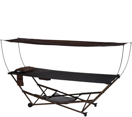 Bliss Hammocks EZ Stow Hammock With Built-in Wheels and Storage Bag