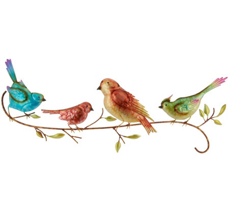 Plow & Hearth Watercolor Birds Wall Art