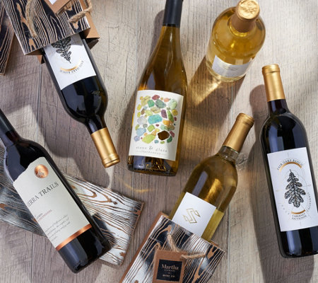 Martha Stewart Wine Co Holiday Wine 12 Bottle Set And Gift Bags