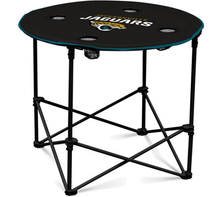 NFL Collapsible Round Table with Cup Holders