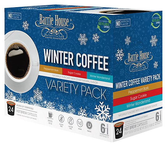 Barrie House 24-Count Winter Variety Pack Capsules - QVC.com