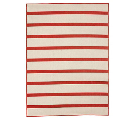 Tommy Bahama 7x10 Reversible Indoor/Outdoor Awning Stripe Rug