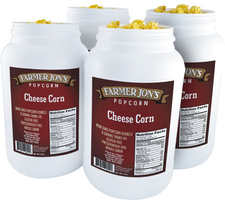 Farmer Jon's (4) 1-Gallon Jugs - Cheese Popcorn