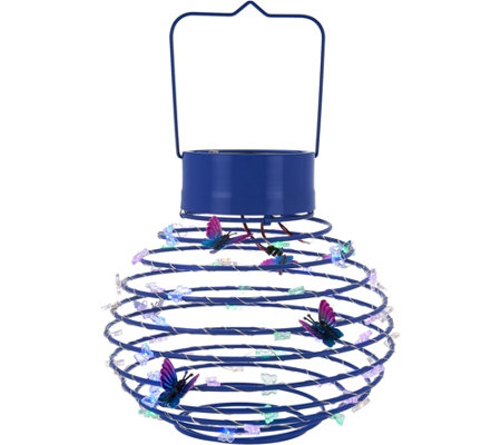 Plow & Hearth Solar Hanging Decorative Spring Lantern
