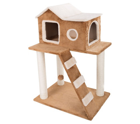 PETMAKER 3-Tier Cat Tree with Scratching Posts