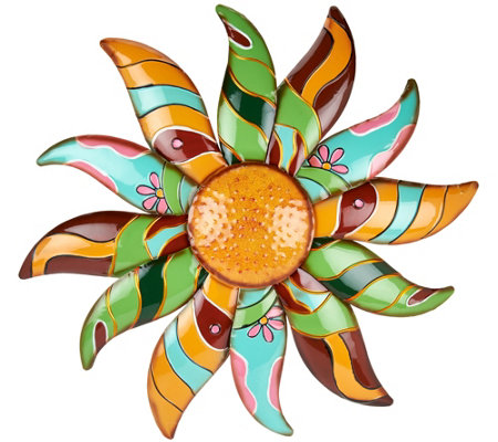 Plow & Hearth Metal Talavera Flower Wall Art