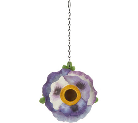Painted Flower Birdhouse by Evergreen