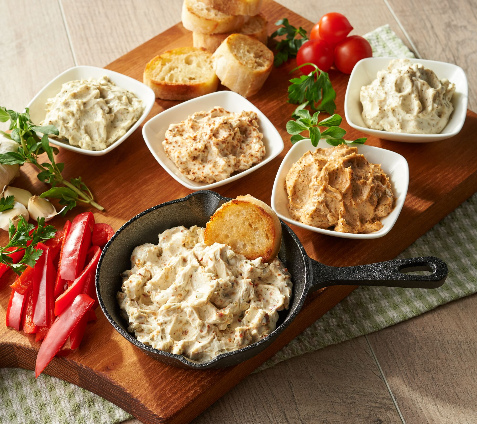 Try an ultimate appetizer with these skillet dips