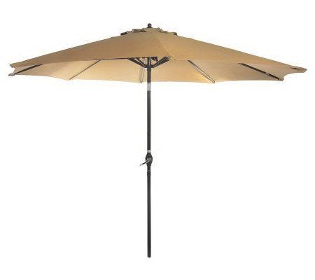 ATLeisure 9u0027 Crank U0026 Tilt Market Umbrella With Removable Cover