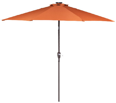ATLeisure 9' Light Solar Patio Umbrella with 44 LED's and Cover