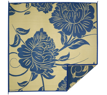 Barbara King Floral Dance 8x8 Reversible Outdoor Mat