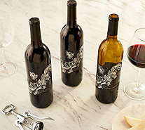 SH 12/3 Martha Stewart 3 Bottle Holiday Wine Set w/ Gift Bags - M60118