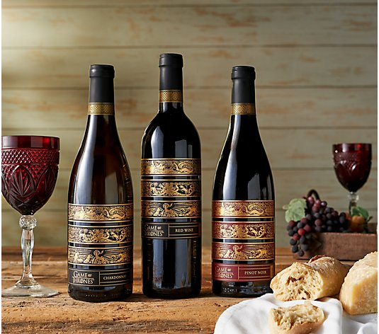 Vintage Wine Estates Game of Thrones 3 Bottle Wine Set