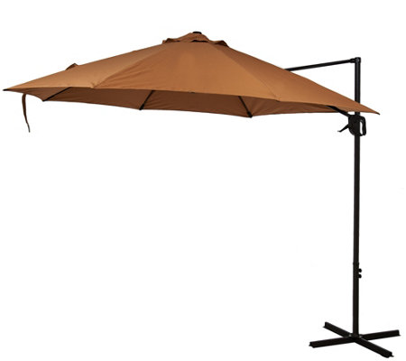 ATLeisure 10u0027 Round Air Flow Olefin Offset Patio Umbrella