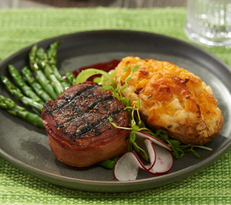 Kansas City (8) 4-oz Bacon Wrapped Filet Mignon & Potato Auto-Delivery