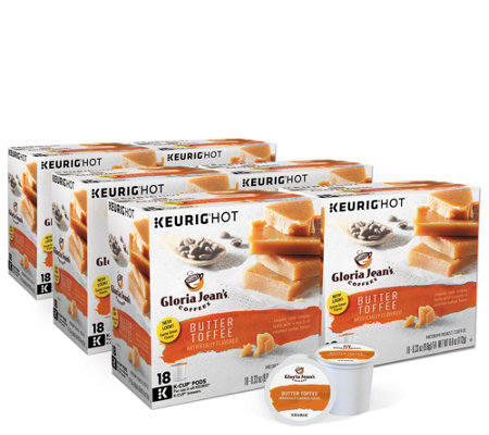 Keurig 108-ct Gloria Jean's Butter Toffee Coffee Pods