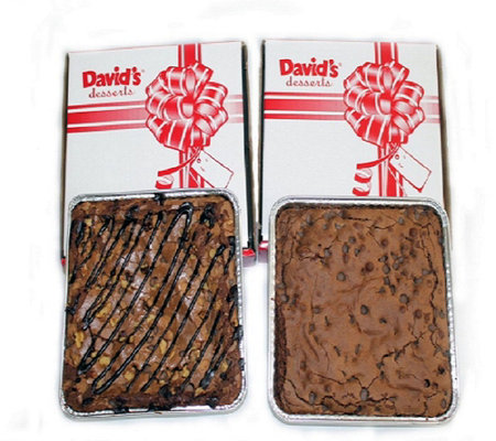 David's Cookies Set of (2) 8x8 Brownie Trays