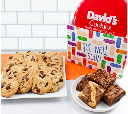 David's Cookies Get Well Chocolate Chunk Cookies & Brownies