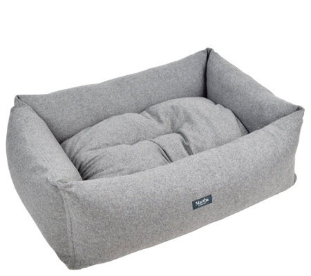 "Martha Stewart 29"" x 21"" Tweed Bolster Pet Bed"