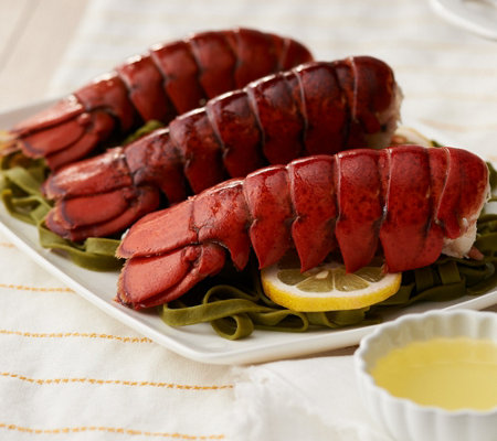 Sh11 4greenhead Lobster 12 6 7 Oz Maine Lobster Tails W Butter